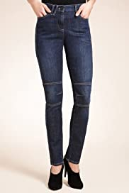 Denim Panelled Jeggings [T54-8098-S]