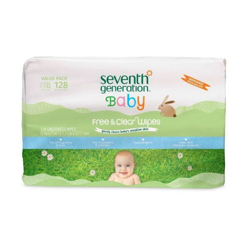 Baby Wipes Free and Clear Refill 128 Count - 1