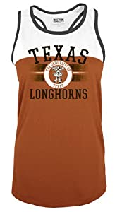 Buy NCAA Texas Longhorns No Fear Scoop Neck Sleeveless Tank Top, Texas Orange, X-Small by SECTION 101 Majestic