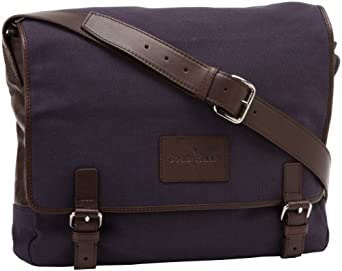 Cole Haan Messenger Bag,Navy Canvas/Dark Brown,One Size