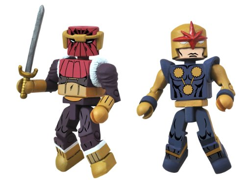 Diamond Select Toys Marvel Minimates Series 50 Fan's Choice Series Baron Zemo II and Nova Corps Centurion Action Figure - 1