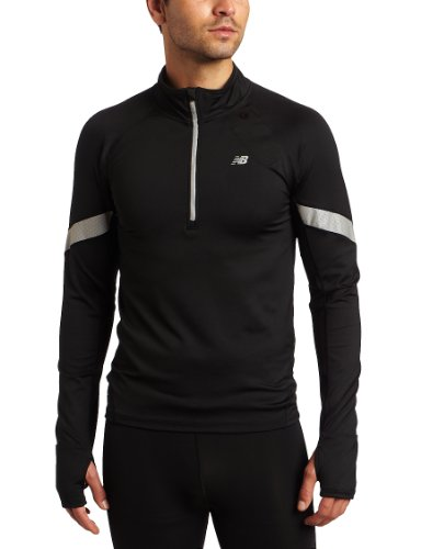 New Balance MRT1303 Men's Long Sleeve Half Zip - Black, X-Large