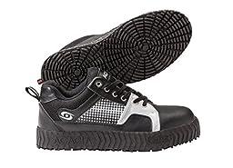 ACACIA Blitzen Stick Curling Shoes, Black/Silver, 10