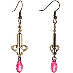 Handcrafted Art Nouveau Dangle Earrings MADE WITH SWAROVSKI ELEMENTS