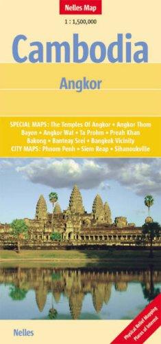 Cambodia - Angkor Nelles Map (Nelles Maps)