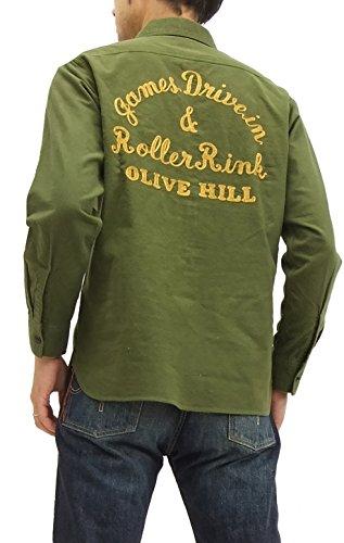 (シュガーケーン) sugar cane ワークシャツ SC26729 メンズ 長袖シャツ #149オリーブ