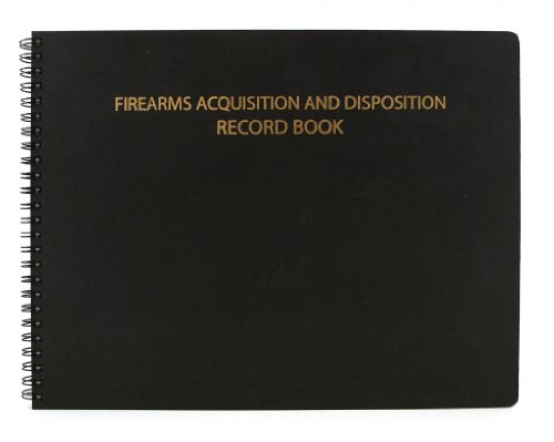 """BookFactory® Gun Log Book / Firearms Acquisition & Disposition Record Book - 100 Pages, Black-TransLux Cover - Wire-O, 11"""" x 8 1/2"""" (LOG-100-GUN-W01"""