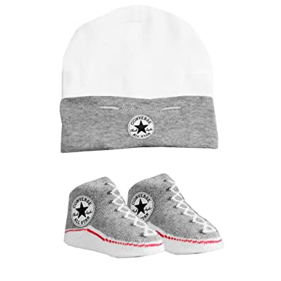 CONVERSE Baby Hat & Sock Set (0-6 Months) - Grey