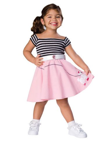 Baby-Toddler-Costume 50S Girl Toddler Costume Halloween Costume
