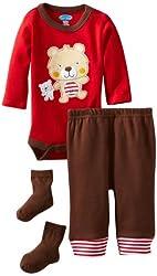 Bon Bebe Baby-boys Newborn Baby Bear and Teddy 3 Piece Pant Set