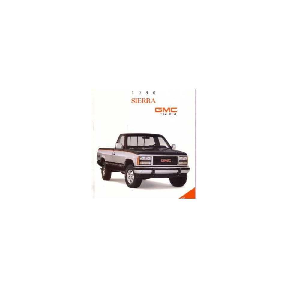 1990 GMC Sierra Sales Brochure Literature Piece Advertisement Specifications