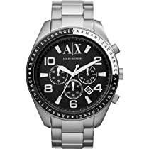 Armani Exchange Chronograph Black Dial Stainless Steel Mens Watch AX1254