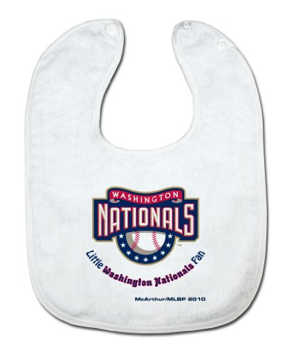 MLB Washington Nationals White Snap Bib with Team Logo at Amazon.com