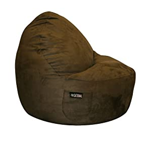 Sitsational Single Seater, Chocolate Suede by American Furniture Alliance