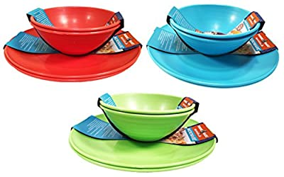 Nordic Ware Microwave Plates and Bowls Set Reusable Eco-friendly