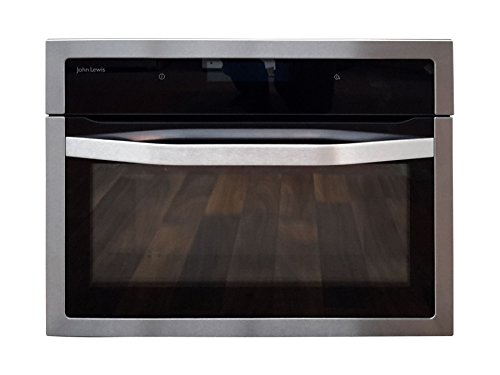 John Lewis JLBIC04 Built-in Combination Microwave, Black/Stainless Steel - G 1727834