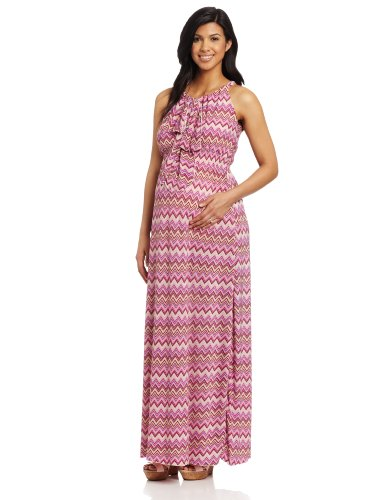 Everly Grey Women's Maternity  Harmony Maxi Dress, Sicily Print, X-Small
