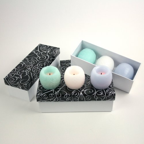 Candle Impressions Set Of 9 Flameless Led Pastel Mini Candles With Timer And Keepsake Gift Boxes