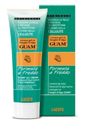 Fanghi Alga Guam Crema Gel Formula Freddo 250 ml Anti Cellulite Cold Cream Gel