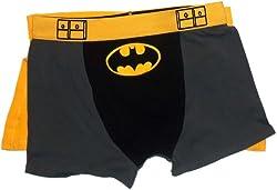 Batman Costume -- Men's Boxer Briefs With Removable Cape