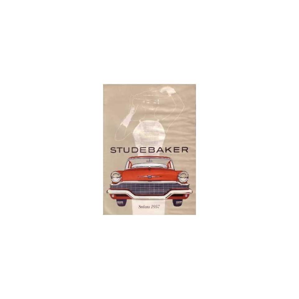 1957 Studebaker Sales Brochure Literature Book Options Specifications Colors