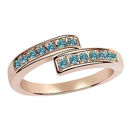 RI96002C3-7 Fashion Korean Version Austrian Crystal Gilded Ring