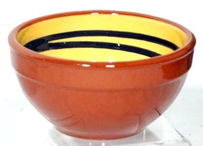 Genuine Terracotta 13cm Breakfastdessert Bowl - Yellowdark Green Swirl Set Of 2 by Be-Active