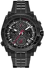 Comprar Bulova 98G257 - Reloj analógico de cuarzo para hombres, correa de acero inoxidable, color negro