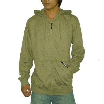 Billabong Mens Zip-Up Surf & Skate Hoodie Sweatshirt Jacket - Khaki (Size: S)