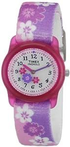 Timex Youth T7B011 - Reloj para niñas de cuarzo, correa de textil color varios colores (con luz)