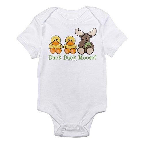 Cafepress Funny Duck Duck Moose Infant Onesie Infant Bodysuit - 18-24M Cloud
