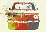 (13x19) Bmw 2002 Front Watercolor 2 Art Poster NaxArt