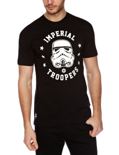 Addict Troopers Imperial Death Stars Printed Men's T-Shirt Black X-Large