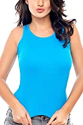 Coucou by Zivame Women's Cotton Top (T001-Blue_Small)