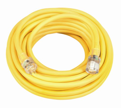Coleman Cable 02688 10/3 Vinyl Outdoor Extension Cord with Lighted End, 50-Foot (Coleman Cable Extension compare prices)