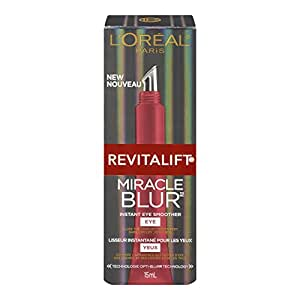 L'Oreal Paris Revitalift Miracle Blur Instant Eye Smoother, 0.5 Fluid Ounce