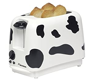 Bestron Drt100C Toasteur Vache Blanc/Noir