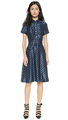 Marc By Marc Jacobs Women'S Checkerboard Silk Dress, Black Multi, 6