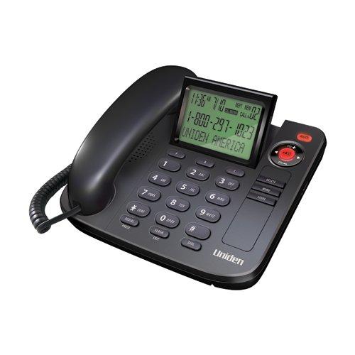 Uniden 1360BK Desktop Corded Telephone Black