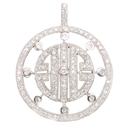 Designer Inspired Elegant C.Z. (.925) S/S Circle Pendants (Nice Holiday Gift, Special Black Firday Sale)