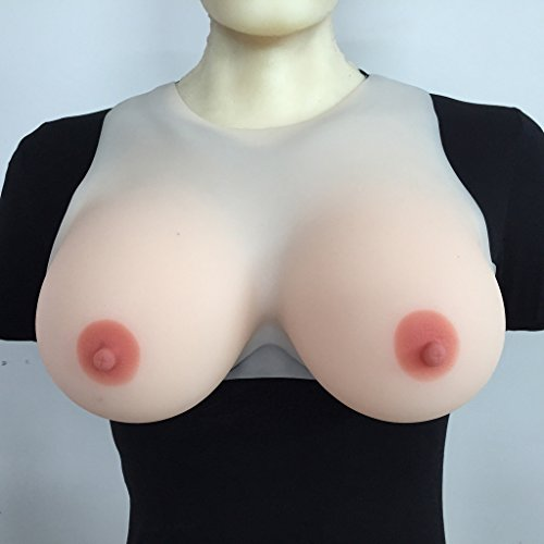 IVITA 5000g/pair Large Silicone Breasts Transgender Silicone Fake Boobs With Straps