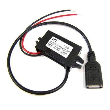 Riorand Usb Interface 18-22V 12V To 5V Dc Car Power Supply Voltage Converter Water Proof