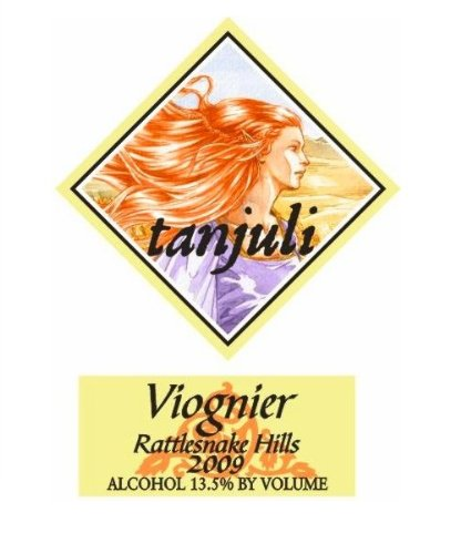 2009 Tanjuli Winery Viognier Columbia Valley Rattlesnake Hills 750 Ml