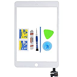 Monkey iPad Mini 3 Touch Screen Digitizer Complete Assembly with IC Chip Replacement Display White(Adhesive + Tool Kit Included)