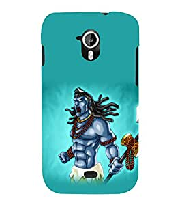printtech Lord God Shiva Cartoon Back Case Cover for Micromax Canvas HD A116::Micromax Canvas HD Plus A116Q