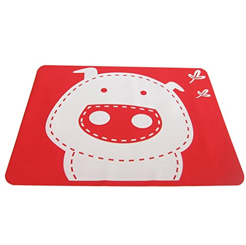 Jypc 1PC Silicone Catoon Washable Tableware Kids Dining Room Placemat(Pig, Red) (Kids Dining Ware compare prices)