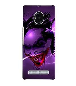 Fuson 3D Printed Ghost Designer back case cover for YU Yuphoria - D4498