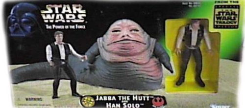 Buy Low Price Kenner Star Wars Power of the Force Beast Pack Jabba The Hutt & Han Solo Action Figures by Kenner (B000A7EU86)