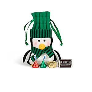 Christmas Gifts Felt Penguin HERSHEY'S Chocolate Bag (Green)