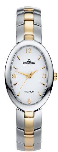 Dugena 4168364 - Reloj analógico de mujer de cuarzo con correa de titanio multicolor - sumergible a 30 metros